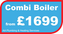 Gas combi boiler installation in Shepshed