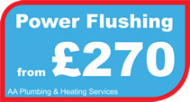Power flushing central heating in Shepshed